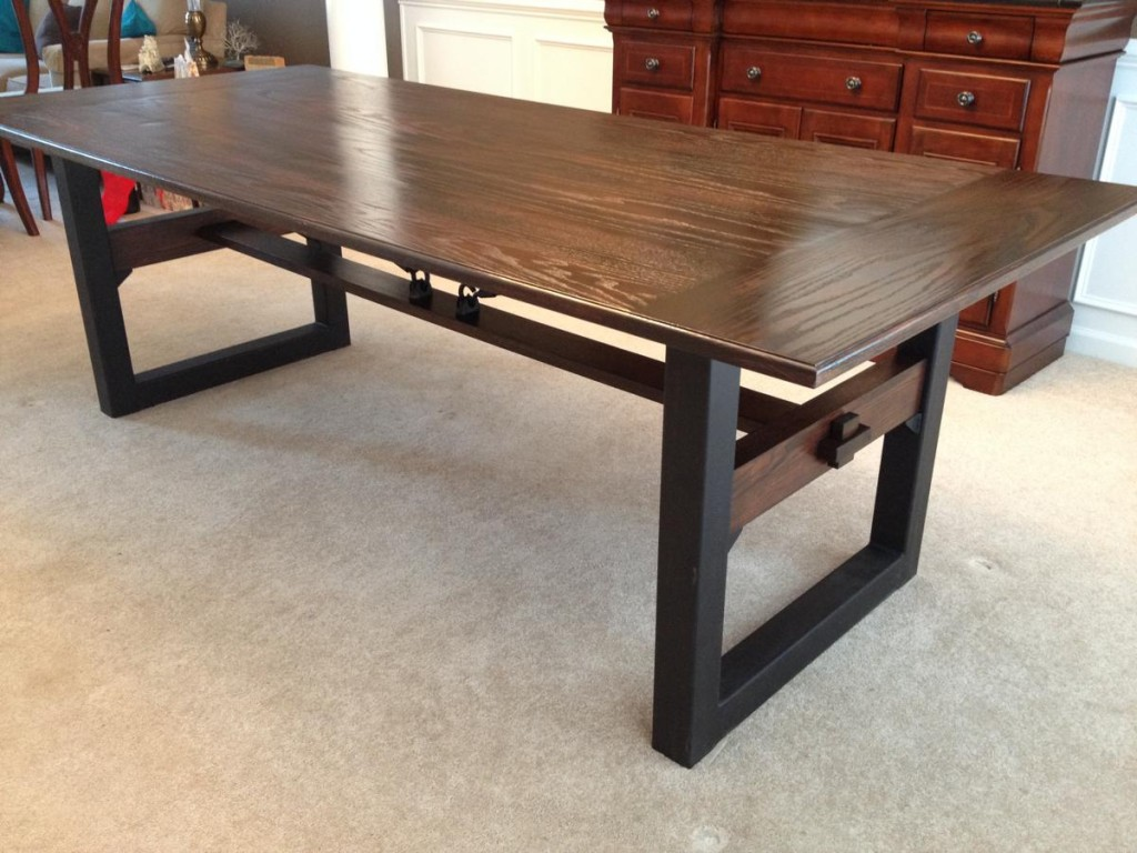 Industrial chic dining table cz woodworking - Industrial kitchen tables ...