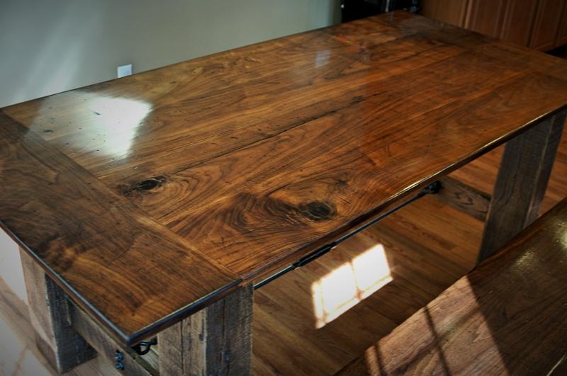 Reclaimed Walnut & Oak Farmhouse Table | CZ Woodworking