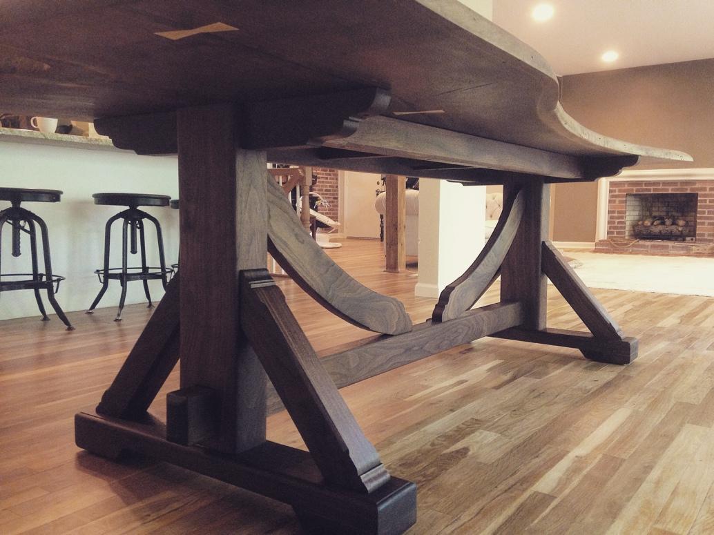 Live Edge Black Walnut Table - CZ Woodworking