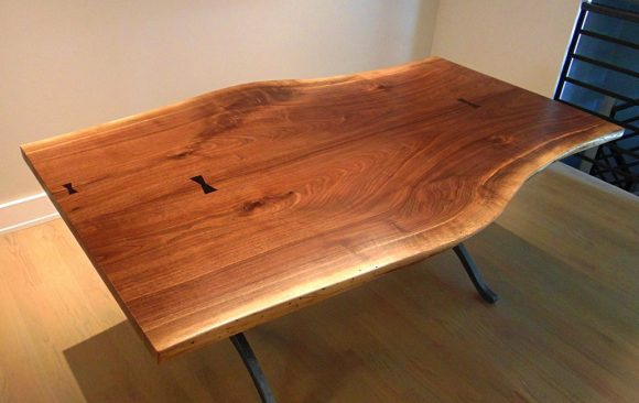 Wishbone Walnut Table