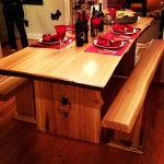 Raw Materials: Live Edge Poplar Dining Table and Benches.