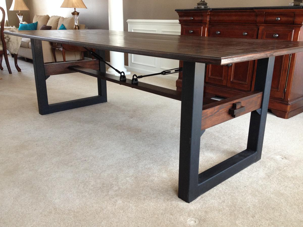 Industrial Chic Dining Table Cz Woodworking