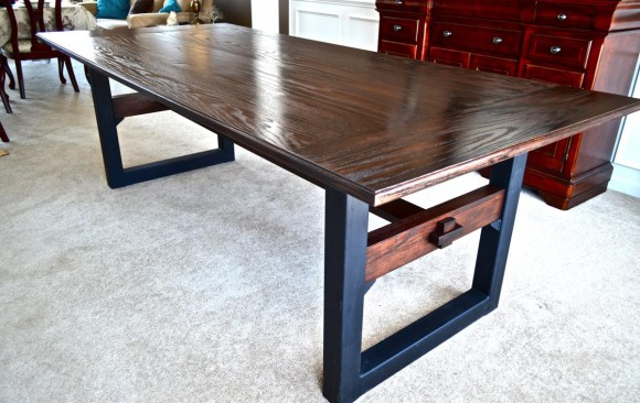 Industrial-Chic Dining Table