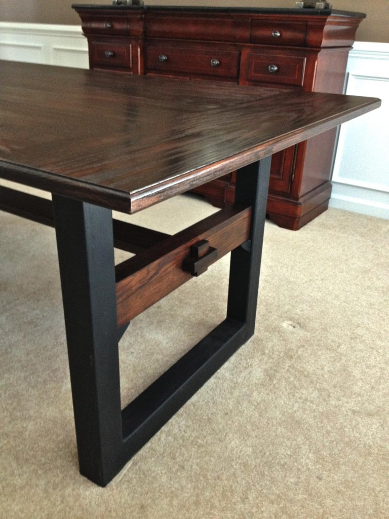 Industrial-Chic Dining Table - CZ Woodworking