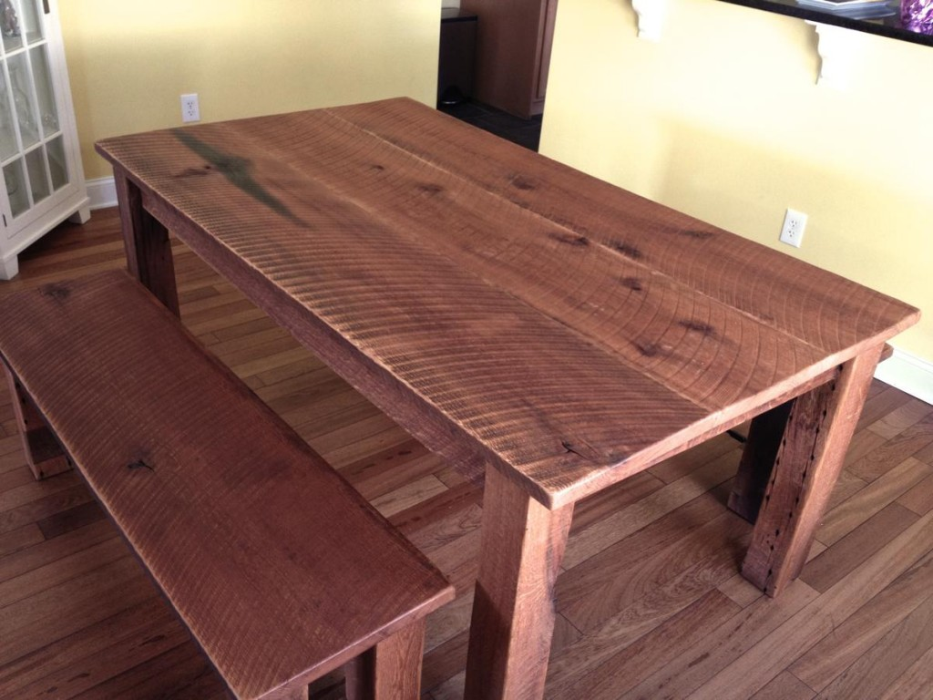 Benches Dining Table: Reclaimed Oak Dining Table & Benches