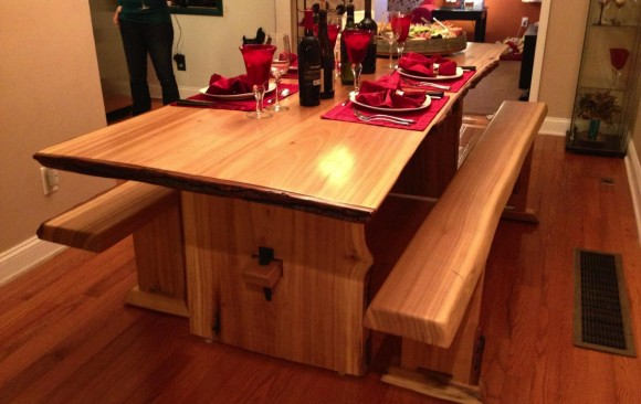 Rustic Live-Edge Dining Table