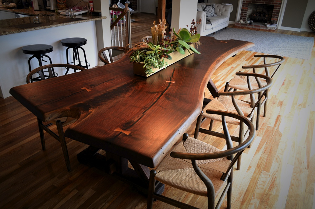 Live Edge Black Walnut Table CZ Woodworking