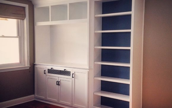 Built-in Entertainment Unit & Bookshelf